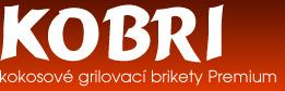 Kobri - kokosové grilovací brikety Premium - logo
